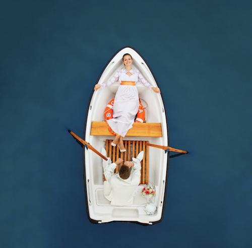 Drift Boat Wedding Photography