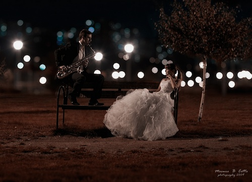Night Lights Wedding Photography