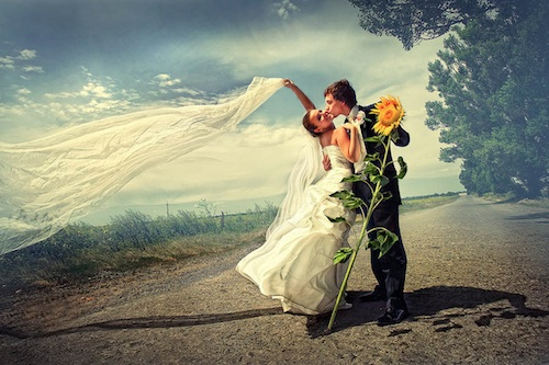 Russia Wedding Photography on Road