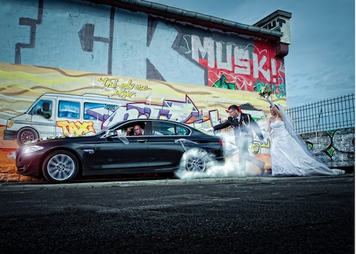 BMW Drifting Wedding Photography