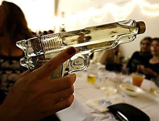 gun shot of tequila