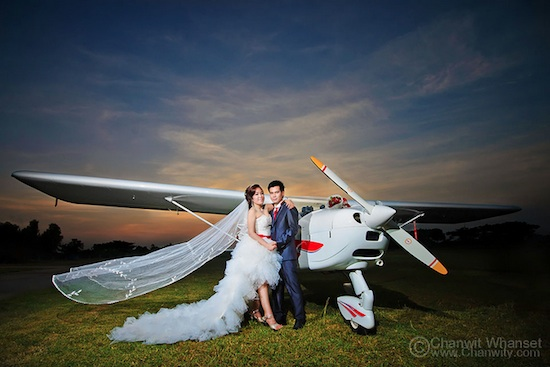 Pre Wedding in front of Airplane
