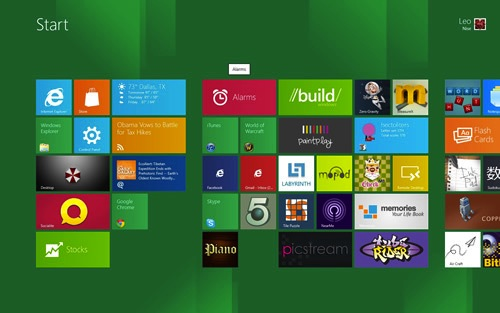 New Start Screen in Win 8