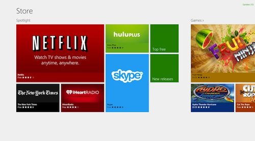 Windows 8 Store For Apps