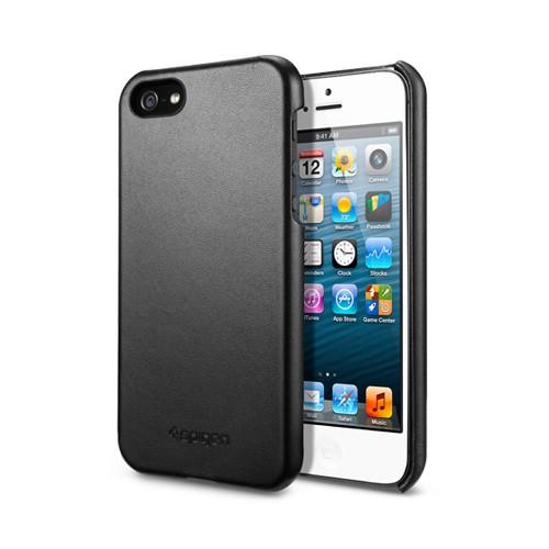 Spigen iphone 5 Black leather grip cases