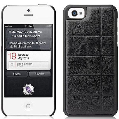 Black Leather case for iphone 5