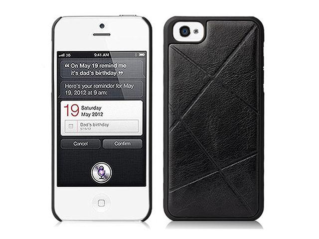 Black elegant iphone 5 leather case grip