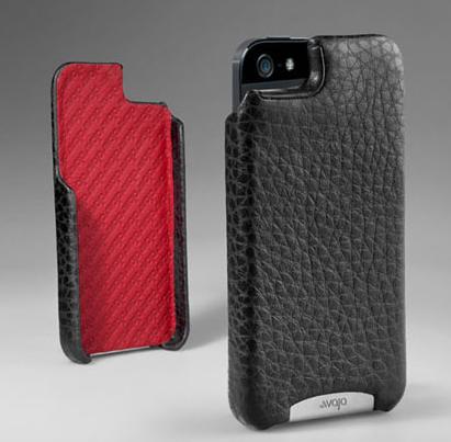 Vajacases black orignal leather grip iphone 5