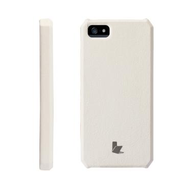 Jiscon case iphone 5 white leather back case grip