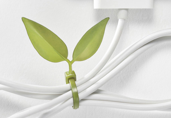 Lufdesign Leaf Tie Cable Organizer