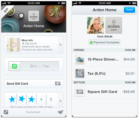 Easy way to pay your Bills with Square Wallet iphone screen shot