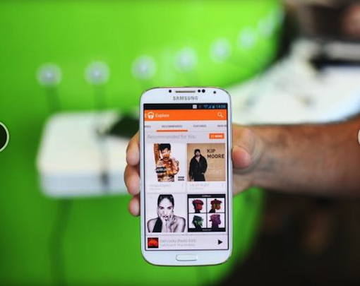 Google New Music Player App on Samsung galaxy s4 Google andoid