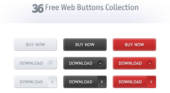36 Web Buttons Collection