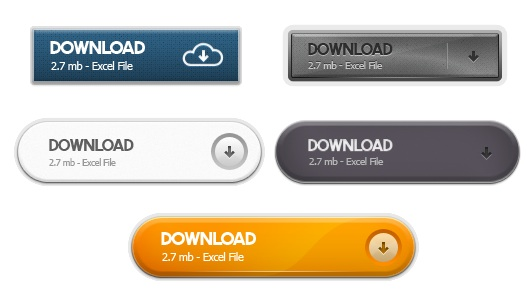 Web Download Buttons Collection Pack 1