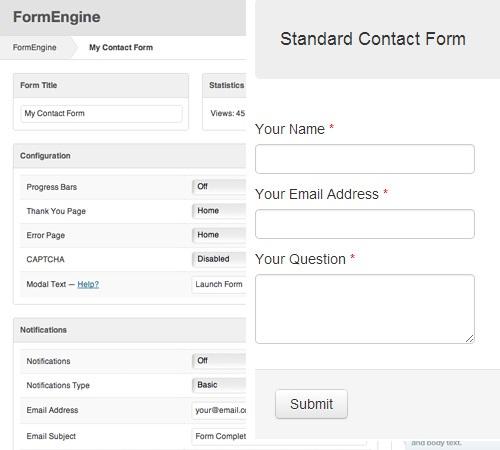 FormEngine - WordPress Contact Form Wizard