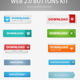 33 Impressive PSD Free Download Website Button