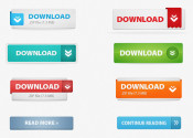 33 Impressive PSD Free Download Website Button