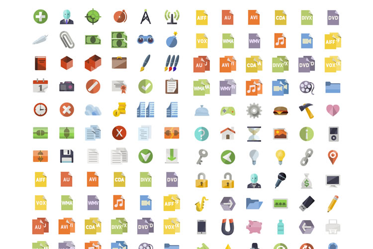 Flat Icons Set download