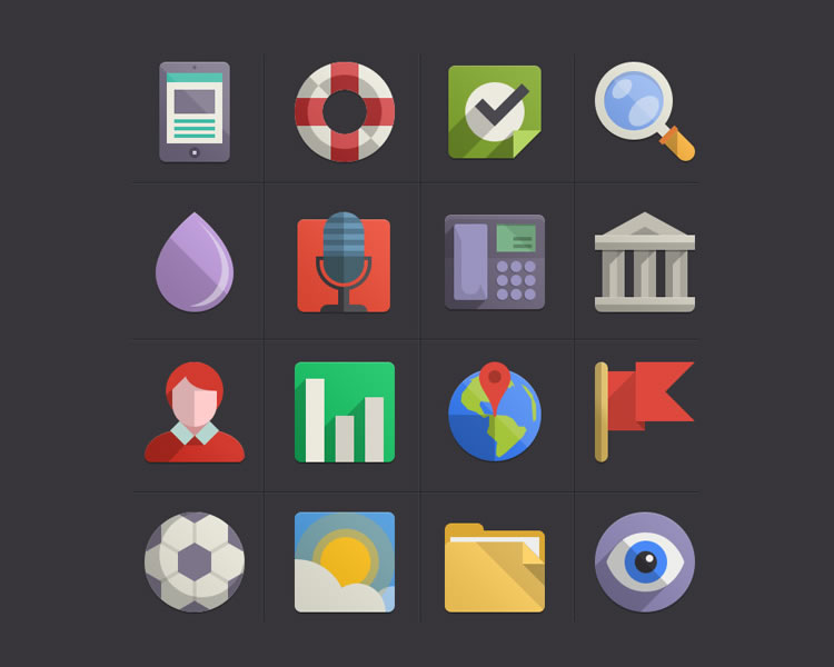 Flat Design Icons Set Vol4
