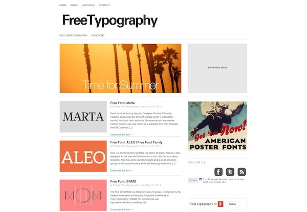 Free Typography Free Font