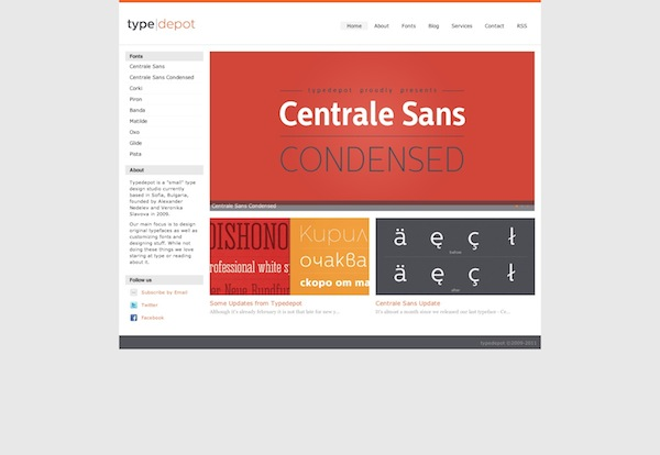 Type Depot Free Fonts