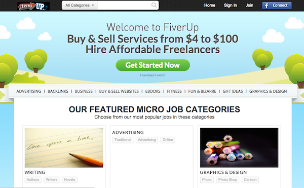 Fiverup online earning website