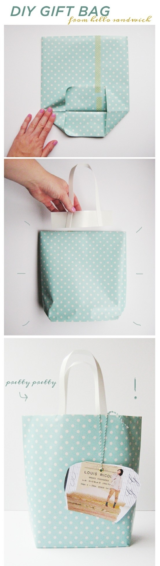 22 mind blowing ideas for gift wrapping 9diy gift bag solutioingenieria Choice Image