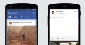 Facebook Soon Update Material Design on Android