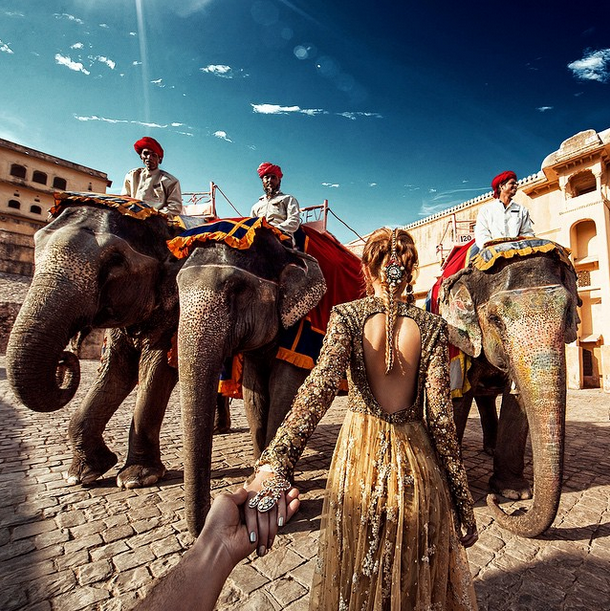 3. Amer Fort in Jaipur, India