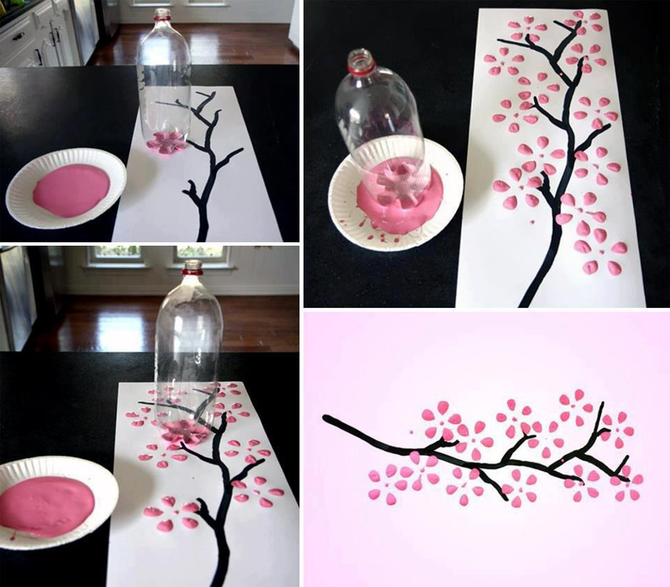 Home Decorating Ideas Diy Part - 22: Who Couldu0027ve Thought The Bottom Part Of The Coca-Cola Bottle Is A Beautiful  Flower Print? Genius! For An Effortless Flower Designs, This Is Another  Option ...