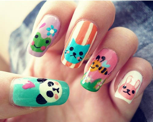 30 unique and stylish nail art designs you should try blogrope 1the animal kingdom prinsesfo Image collections