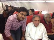 Ratan Tata Travelling in AirAsia Economy class