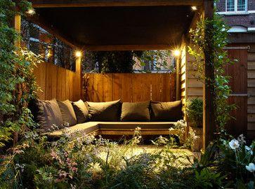 24 a cozy seating in the backyard small garden