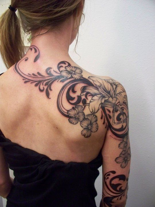 35 breathtakingly beautiful tattoos for girls blogrope. Black Bedroom Furniture Sets. Home Design Ideas